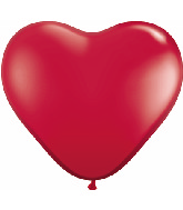 "15"" Heart Latex Balloons (50 Count) Ruby Red"