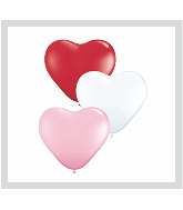 "15"" Heart Latex Balloons (50 Count) Sweetheart Assortment"