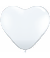 "15"" Heart Latex Balloons (50 Count) Diamond Clear"