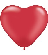 "11"" Heart Latex balloons (100 Count) Ruby Red"