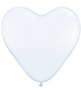 "11"" Heart Latex balloons (100 Count) White"