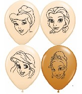 "5"" Assorted Blush & Mocha Disney Princesses 100 per bag"