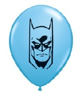 "5"" Pale Blue Batman Face Latex Balloon 100 per bag"