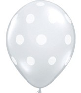 "5"" Diamond Clear Polka Dots 100 per bag"