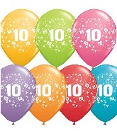"11"" Number 10 Ten Festive Assortment 50 per bag"