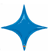 "20"" Airfill Only Sapphire Blue Starpoint Balloon"
