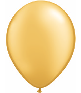 "9""  Qualatex Latex Balloons  GOLD           100CT"