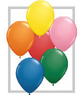 "9""  Qualatex Latex Balloons  STANDARD ASSORT   100CT"