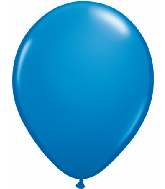 "11"" Qualatex Latex Balloons 25 Per Bag Dark Blue"