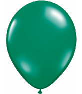 "11"" Qualatex Latex Balloons 25 Per Bag Jewel Emerald Green"
