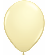 "11"" Qualatex Latex Balloons 25 Per Bag Ivory Silk"