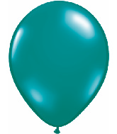 "11"" Qualatex Latex Balloons 25 Per Bag Jewel Teal"