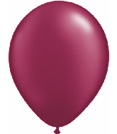 "11"" Qualatex Latex Balloons 25 Per Bag Pearl Burgundy"