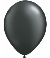 "11"" Qualatex Latex Balloons 25 Per Bag Pearl Onyx Black"