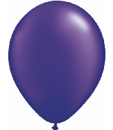 "11"" Qualatex Latex Balloons 25 Per Bag Pearl Quartz Purple"
