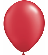 "11"" Qualatex Latex Balloons 25 Per Bag Pearl Ruby Red"