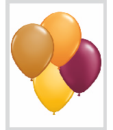 "11""  Qualatex Latex Balloons  AUTUMN ASSORT     100CT"