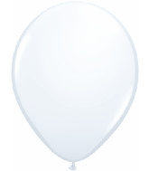 "11"" Qualatex Latex Balloons 25 Per Bag White"