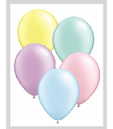"16""  Qualatex Latex Balloons  PASTEL Pearl ASSORT   50CT"