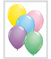 "16""  Qualatex Latex Balloons  PASTEL ASSORT      50CT"
