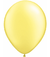 "16""  Qualatex Latex Balloons  Pearl LEMON CHIFFON   50CT"