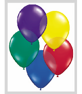"11""  Qualatex Latex Balloons  RADIANTJEWEL ASSORT  100CT"
