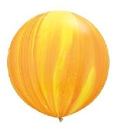 "30"" Yellow Orange Rainbow SuperAgate Balloons (2 Count)"