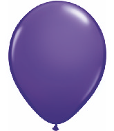 "11"" Qualatex Latex Balloons 25 Per Bag Purple Violet"