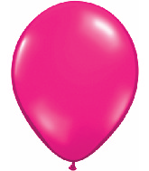 "11"" Qualatex Latex Balloons 25 Per Bag Jewel Magenta"