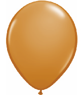 "11"" Qualatex Latex Balloons 25 Per Bag Mocha Brown"