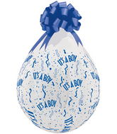 "18"" Stuffing Balloons It's A Boy-A-Round Clear (25 Count)"