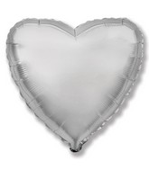"9"" Airfill Only Silver Heart"