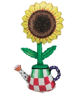"44"" Jumbo Sunflower Balloon in Pot"