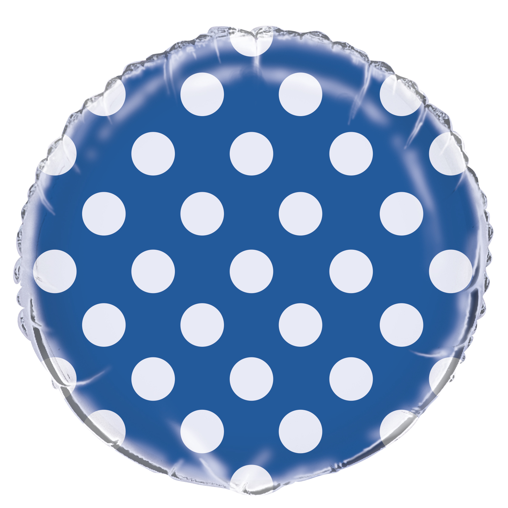 "18"" Royal Blue Polka Dots Balloon"