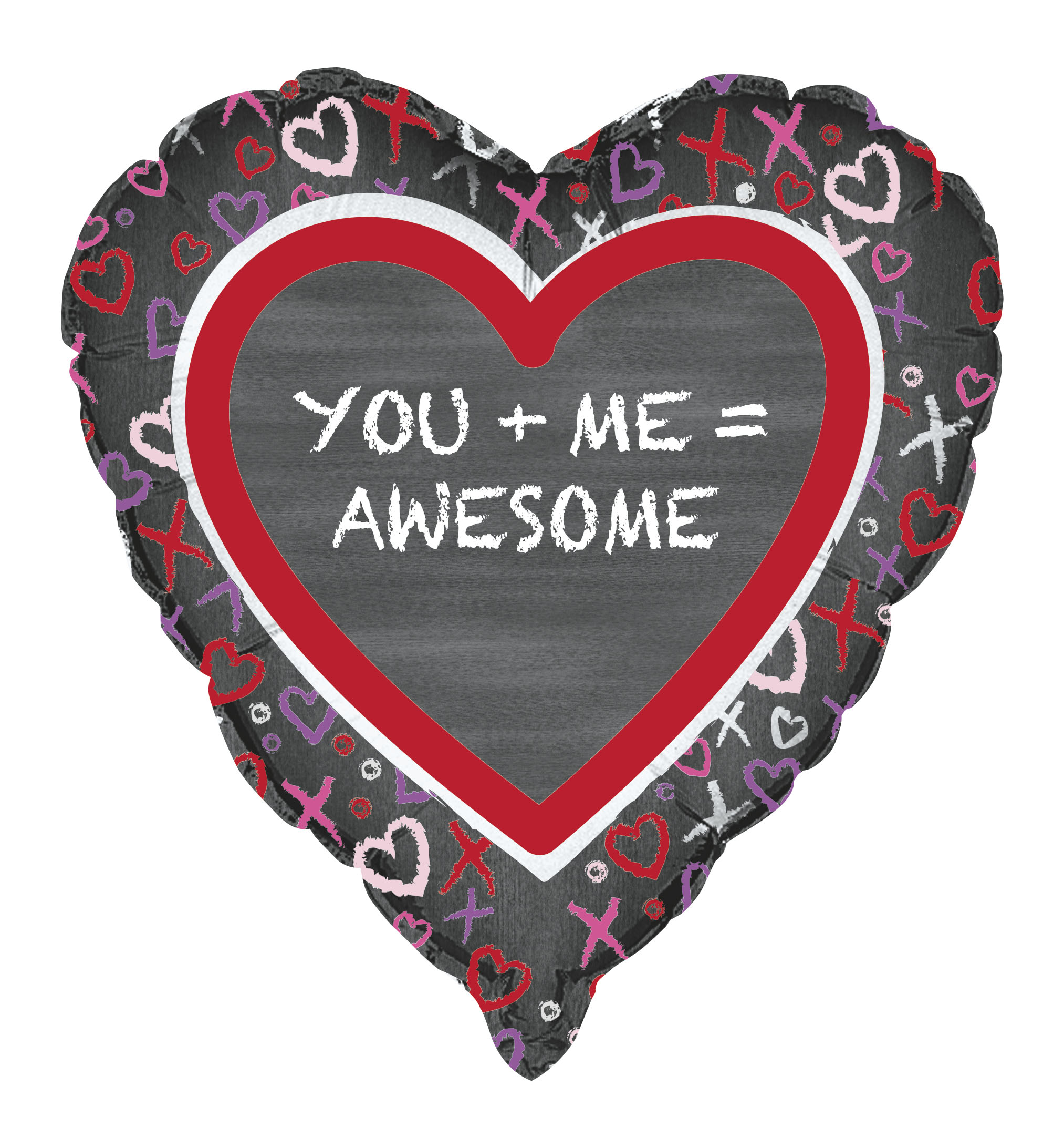 "18"" You Me Heart Foil Balloon"