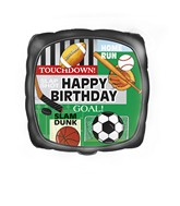 "18"" Happy Birthday Classic Sport Balloon"