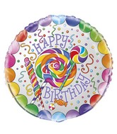 "18"" Happy Bithday Candy Party Balloon"