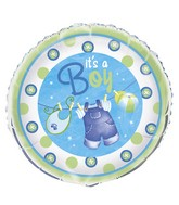 "18"" It&#39s A Boy Blue Clothing Balloon"