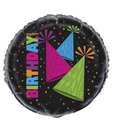 "18"" Neon Party Happy Birthday Balloon"