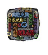 "18"" Grad Square Foil Balloon"