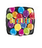 "18"" Congratulations Square Balloon"