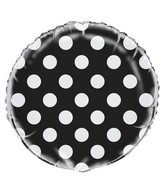 "18"" Black Polka Dots Balloon"