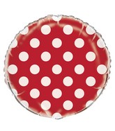 "18"" Red Polka Dots Balloon"