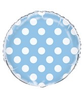 "18"" Powder Blue Polka Dots Balloon"