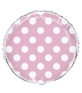 "18"" Packaged Lovely Pink Polka Dots Balloon"