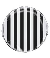 "18"" Black Stripe Balloon"