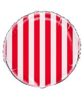 "18"" Red Stripe Balloon"