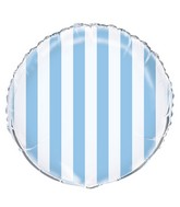 "18"" Packaged Powder Blue Stripe Balloon"