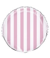 "18"" Packaged Lovely Pink Stripe Balloon"