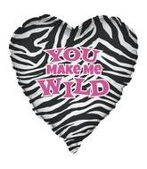 "18"" You Make Me Wild Heart Foil Balloon"